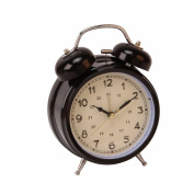 Black Double Bell Alarm Clock