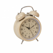 Cream Double Bell Alarm Clock