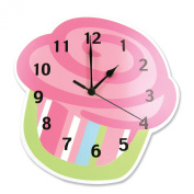 Trend Lab 108156 Shaped Wall Clock- Cupcake- 28cm X 28cm X .90cm Thick Mdf