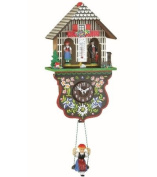 Kuckulino Black Forest Clock weather house with quartz movement and cuckoo chime, incl. batterie TU 2025 SQ