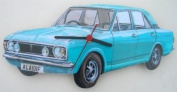 Ford Cortina Mk11 Wall Clock - A22