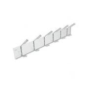 Safco Steel & Aluminium Coat Rack, 6 Hook 4162