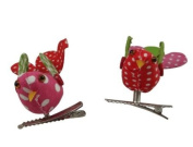 Gisela Graham Patchwork Fabric Birds with Clips