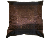 Moroccan Sequin Sparkle Cushion Cover in Bronze and Gold