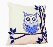 Ollie Owl Cushion Blue