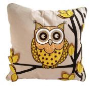 Ollie Owl Cushion Chartreuse