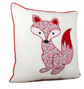 Applique Embroidered Fantastic Fox Cushion