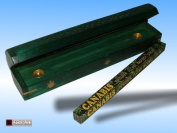 WOODEN INCENSE BURNING BOX IN FOREST GREEN FREE INCENSE