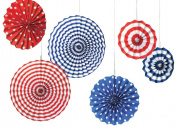 Amscan Decorative Paper Fan American Su mm er