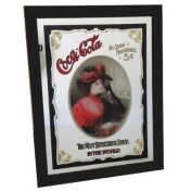 Coca Cola black Wood mirror