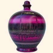 Terramundi Money Pot in Pink Purple and Grey slipware