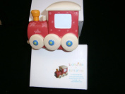 kiddiwinks resin money bank red train
