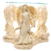 Cream Angel Figurine Oil Burner