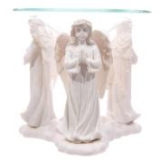 White Praying Angel Oil Burner 10cm