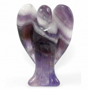 Amethyst Pocket Angel Carving