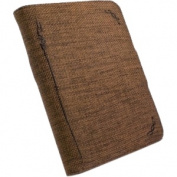 Natural Hemp Book-Style Case Cover for Sony PRS-T1 eReader - 'Mocha' Brown