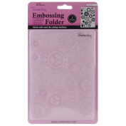 Crafts Too Embossing Folder GEARED (cogs) 13cm x 18cm