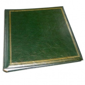 Classic Large Green Traditional Photo Album - 100 Sides