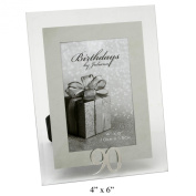 90 th Mirror Birthday Photo Frame 10cm x 15cm