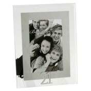 21st Birthday - Mirrored Motif & Glass Photo Frame