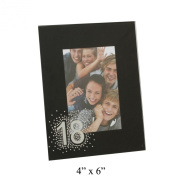 Juliana Black Glass Frame - 4x6 18th Birthday Gift FG50518