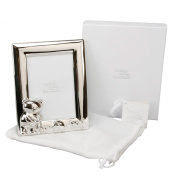 Twinkle Twinkle Silverplated Small Teddy Portrait Photo Frame