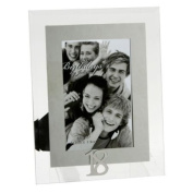 18th Birthday - Mirrored Motif & Glass Photo Frame