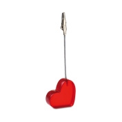 1 Place Card Holder - Wedding Name Table Setting Marker - Shop Display Price Tag - Red Heart
