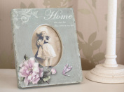 Chic & Shabby Style Photo Frame. Small Ceramic Photo Frame with wording