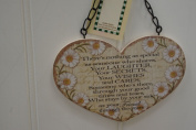 Heart Shaped Friendship Poem, Wooden Plaque.