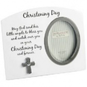 White Christening Day Photo Frame