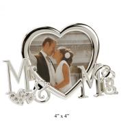 "Juliana Silverplated Frame - ""Mr & Mrs"""