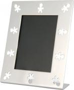 A Di Alessi Mini Girotondo Photo Frame in 18/10 Stainless Steel Mirror Polished.