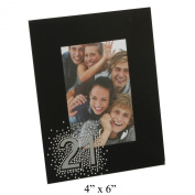 Juliana Black Glass Frame - 4x6 21st Birthday Gift FG50521