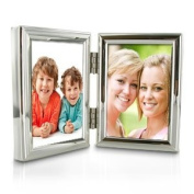 Silver Plated Double Small Photo Frame