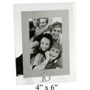 16th Birthday - Mirrored Motif & Glass Photo Frame