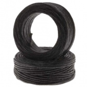 Waxed Irish Linen Necklace or Knotting Cord 1mm Black - 10 Yards