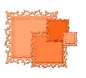 Spellbinders Nestabilities Decorative Elements Dies-Fleur De Lis Squares S4-318