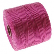 BeadSmith Super-Lon Cord - Size #18 Twisted Nylon - Magenta / 77 Yard Spool
