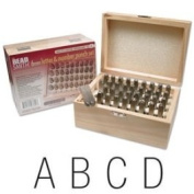 Beadsmith 36 Piece Letter & Number Punch Set For Stamping Metal 1/4 Inch 6mm