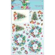 Papermania A4 Decoupage Pack - At Christmas Lucy Cromwell - Festive Home
