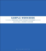 Sample Workbook to Accompany Professional Sewing Techniques for Designers