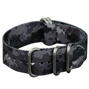 INFANTRY G10 5 Rings Military URBAN CAMO ZULU Watch Band Fabric Nylon Strap Black Hardware 22mm Strong Divers #WS-ZULU-UR-22M