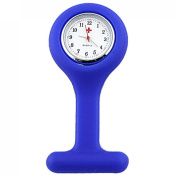 Blue Silicone Skin Covered Nurses Brooch Watch Gadget