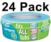 24 X Tommee Tippee Sangenic Nappy Disposal System Refills Bags Cassettes Pack Best Quality. Ship Worldwide