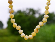 Raw Milky Baltic Amber Teething Necklace for Baby - Maximum Pain Relief