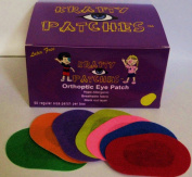 Krafty Eye Patches (Unisex) Regular Size 50 patches & 1 bag foam stickers ages 4yrs & Up