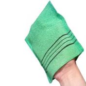 Pocket Style Green Exfoliating Scrub Bath Mitt Washclothe, 3 counts -Made in Korea