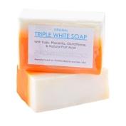 12 Bars of Kojic Acid, Placenta, & Glutathione Triple Whitening/bleaching Soap Appx. 150gms
