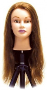 Celebrity Catherine Cosmetology Human Hair Manikin, 24-70cm